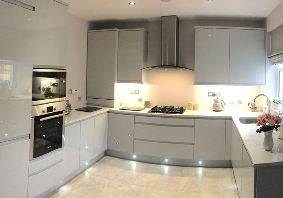Abbey Kitchens And Bathrooms - Dove grey kitchen units